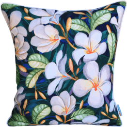 frangipani designer outdoor cushion cover