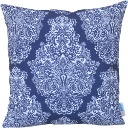 blue and white designer cushion