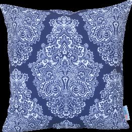blue and white designer cushion
