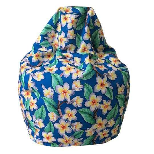 Amazing frangipani designer outdoor teardrop beanbag cover