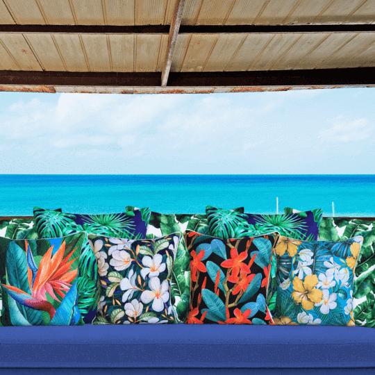 frangipani designer outdoor cushion cover mixed designs