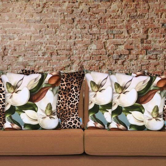 animal print designer cushion mix