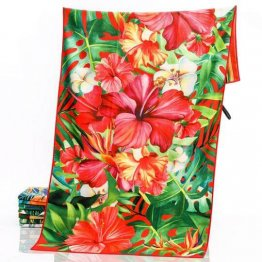 sand free beach towel tropical hibiscus