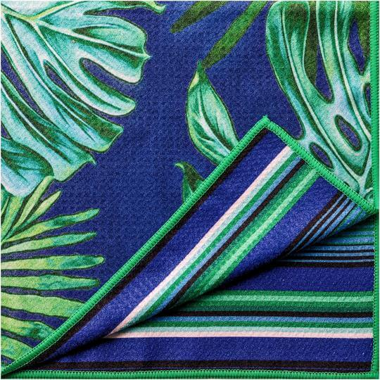 sand free beach towel tropical leaf design front and back