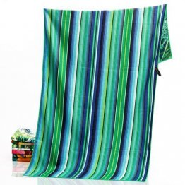sand free beach towel tropical leaf reverse design
