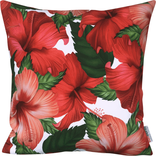 hibiscus designer cushion cover