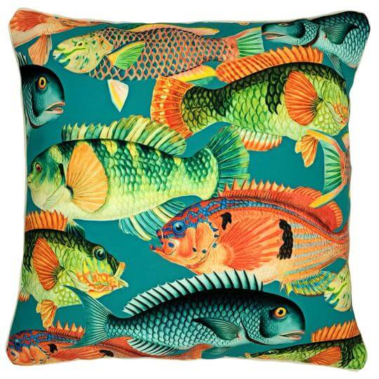 Appealing outdoor fish cushion cover