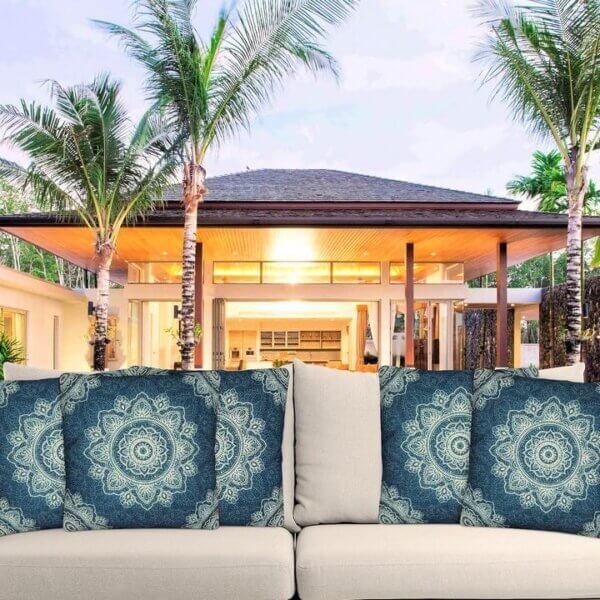 Bounty mandala outdoor cushion cover