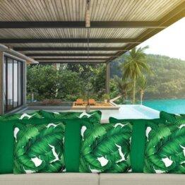 Endorse plain dark green outdoor cushion cover mix
