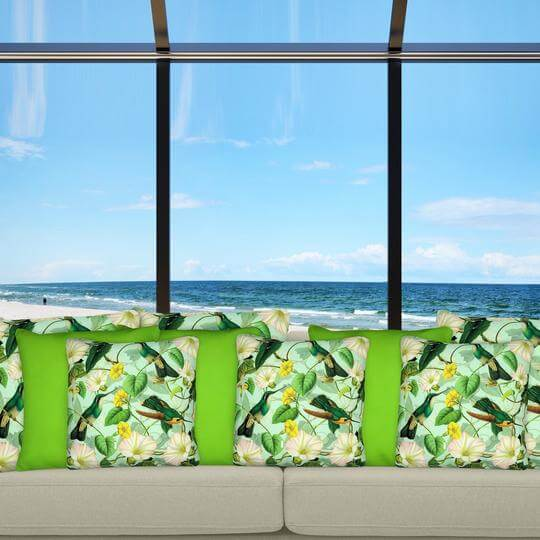 Engage light green outdoor cushion cover mix 2