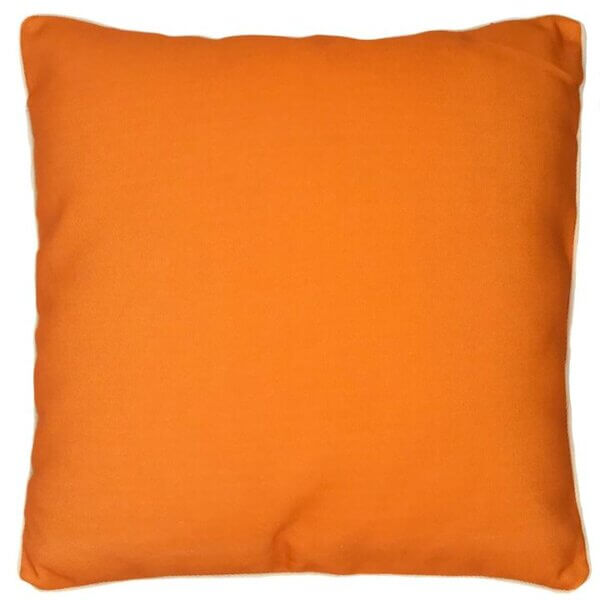 Equity orange outdoor cushion cover
