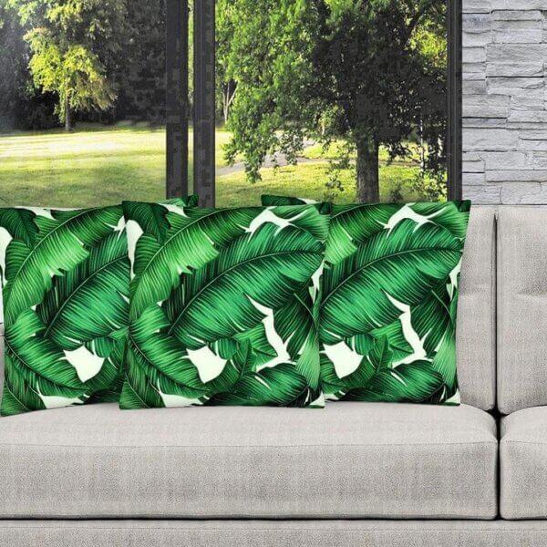 Lismore designer tropical leaf indoor cushion cover