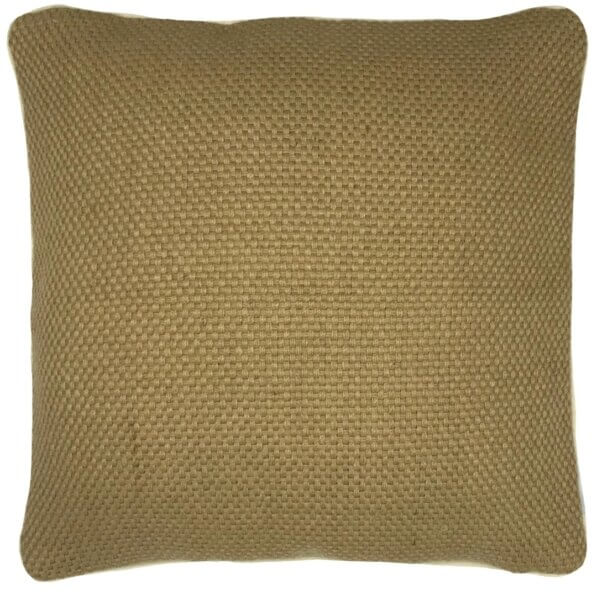 sparkle natural jute cushion