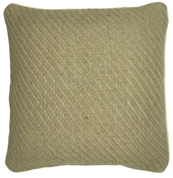 poised natural jute cushion cover