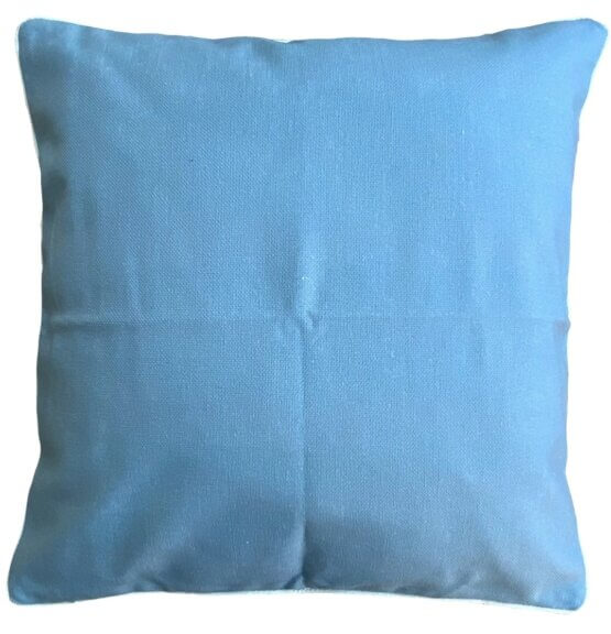 blue outdoor cushion